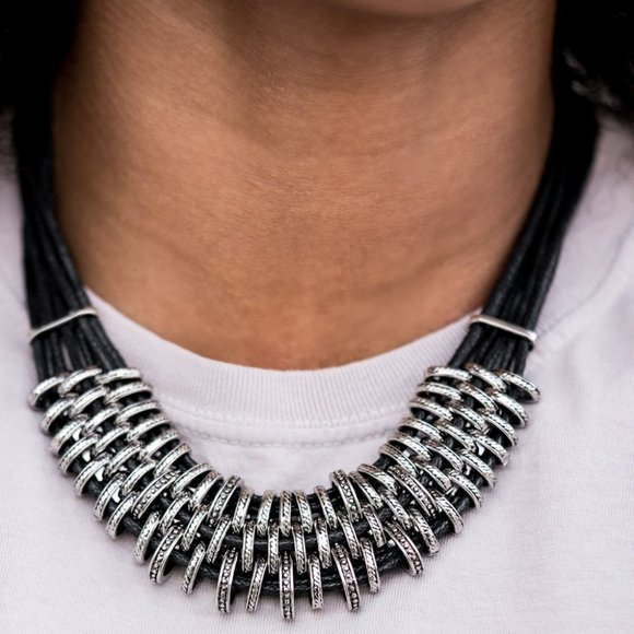 Lock Stock and SPARKLE Black Necklace